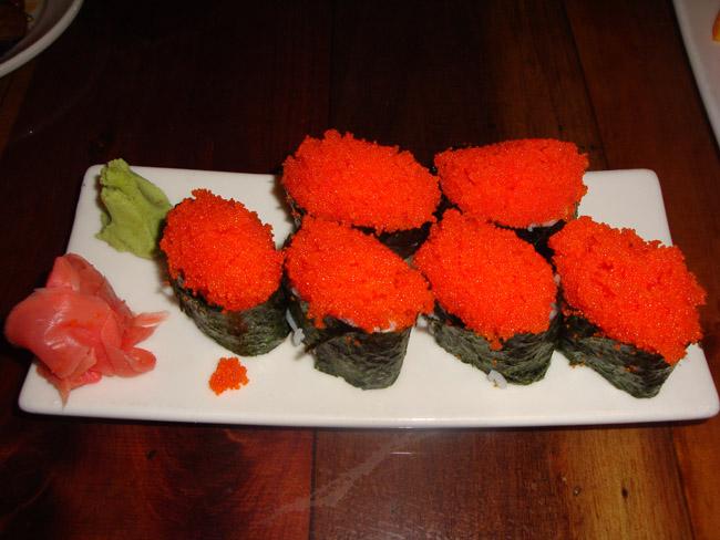 Menu laishley crab house sushi bar punta gorda fl for Flying fish roe